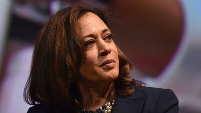 In this photo taken on May 5, 2018, U.S. Sen. Kamala Harris attends the United State of Women Summit at the Shrine Auditorium in Los Angeles.