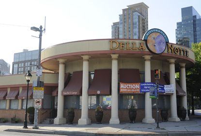 The exterior of the former Della Notte restaurant in Little Italy, prior to an auction of the restaurant's contents held after closing in 2013.