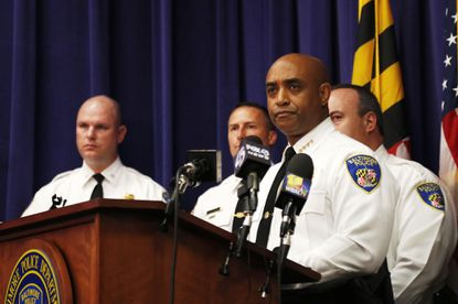 Police Commissioner Anthony Batts holds news conference addressing police conduct.