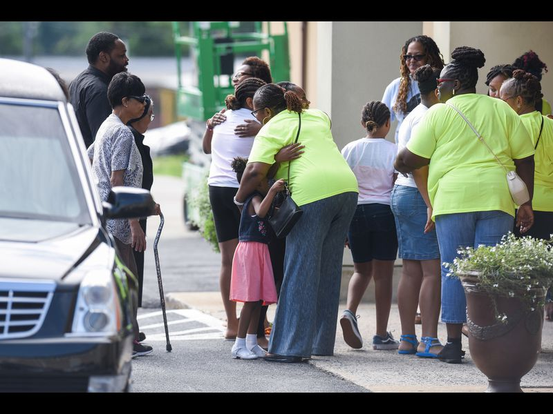 Seven-year-old shooting victim Taylor Hayes is mourned at her