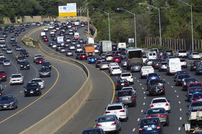 Traffic crawls along the Capital Beltway during rush hour on Tuesday, Aug. 25, 2015. Maryland is expected to soon move forward with efforts to add toll lanes to a portion of the beltway along with the American Legion Bridge and I-270. (Jose Luis Magana/PilotOnline.com).