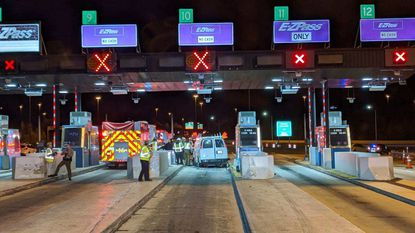 A Harford County man died, according to Maryland State Police, after the van he was driving struck an toll booth in the plaza on the Cecil County side of the Tydings Bridge along I-95 on Wednesday, March 18.