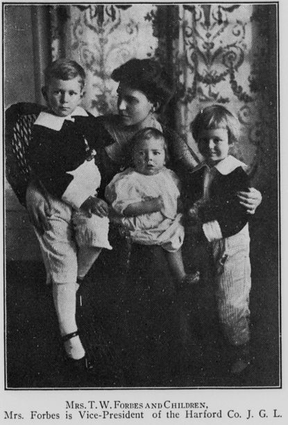 Harford County resident Elizabeth Forbes is pictured with her children in the June 26, 1915, edition of Maryland Suffrage News. Forbes, one of many women throughout Maryland who worked to win the right for women to vote in the early 20th century, will be honored with a historical marker in Havre de Grace.