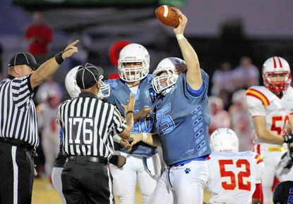 """Pallotti senior Anthony """"Goose"""" Santoro, the 2014 Laurel Leader Male Athlete of the Year, shined in football, wrestling and lacrosse."""