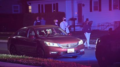 Anne Arundel Police officers are at scene of multiple shooting in Maryland City in Anne Arundel County in the 200 block of Federalsburg South on May 10, 2021.