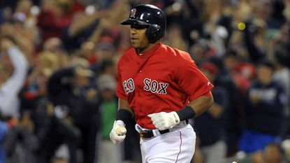 Boston Red Sox outfielder Yoenis Cespedes.