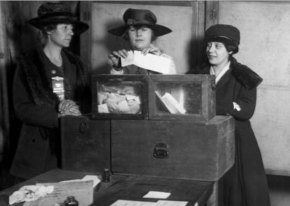 In the summer of 1920, the 19th Amendment, which gave women the right to vote, was ratified.