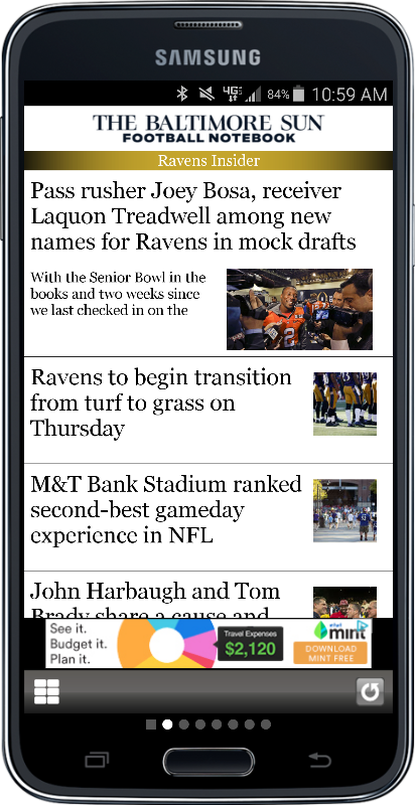 Baltimore Football for iPhone and Android
