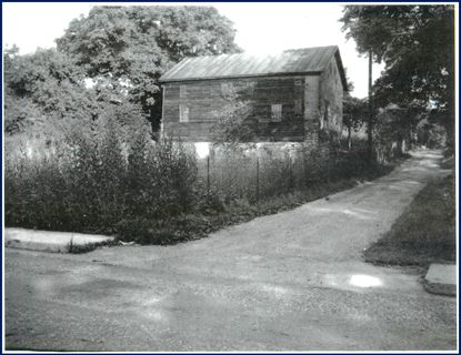 "The barn in this undated picture taken around 1947 was refurbished into ""Legion Square,"" the home of Carroll Post 31 of the American Legion in Westminster on Sycamore Street. The barn was readapted and renovated and dedicated as the home of the American Legion on June 12, 1948 with great fanfare and a parade. At the time the Democratic Advocate praised the adaptive reuse as ""one of the most beautiful modern structures in Carroll County."" One of the first TVs in Carroll County was installed in the facility in March 1948."