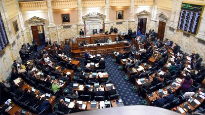 As Maryland's lawmakers head into the final days of their annual session, they have plenty of items left on their to-do list. The House of Delegates is shown in this March 16, 2019, file photo.