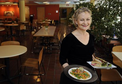 Irena Stein, photographed in 2010 at Cafe Azafran, her eatery in the Space Telescope Science Institute.