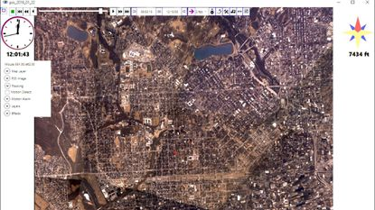 Persistent Surveillance Systems' wide area camera imagery captures about 30 square miles of Baltimore at once.