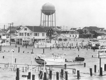 The storm is considered worse than the hurricane that hit the seaside town in 1933. Strong winds and an especially high tide caused flooding in Ocean City and along the coast.