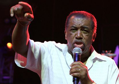Ben E. King performs on stage during the opening of the 40th Montreux Jazz Festival at the Stravinski hall in Montreux, Switzerland in 2006.