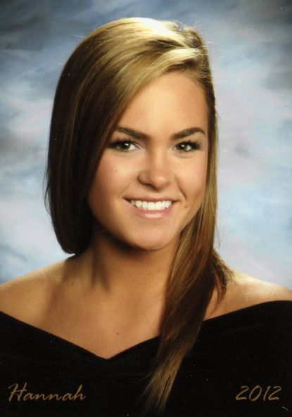 Hannah Kriss' is shown in her senior portrait from The John Carroll School in Bel Air, where she graduated from in June. Ms. Kriss was killed in a car crash on Route 152 Tuesday.