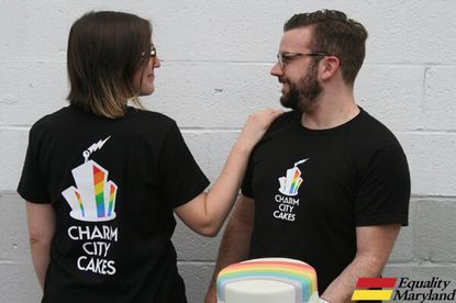 Baltimore's Charm City Cakes has made T-shirts for Pride this year, and will donate part of the proceeds to Equality Maryland.