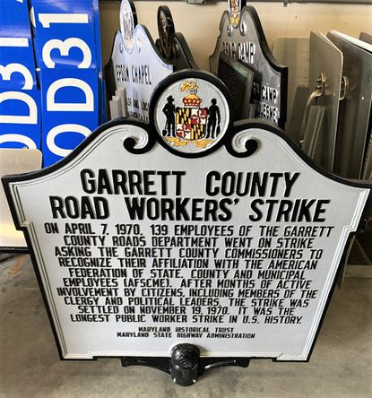 In the spring of 1970, road workers in conservative Garrett County in Western Maryland went on strike in an effort to join a union. It turned out to be the longest strike by public employees in U.S. history, and it was successful. The state will install this historical marker about the strike on Route 135 in Mountain Lake Park.