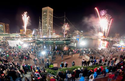 The Inner Harbor's New Year's Eve Spectacular starts at 9 p.m.