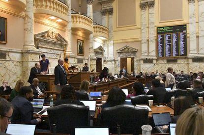 Maryland House of Delegates votes on final bills before adjourning a pandemic-abbreviated session earlier this year. One of the measures passed by the General Assembly appears as Question 1 on the ballot: a constitutional amendment expanding their budget authority.