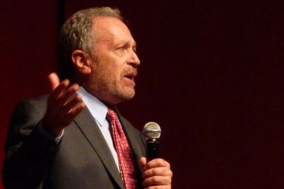 """""""Don't be discouraged,"""" former Labor Secretary Robert Reich said during a visit Thursday to San Diego. """"Here in San Diego there's people of good will. You, working together, can do more than the federal government."""""""