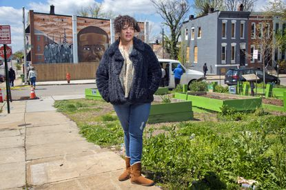 Dominique Conway founded the Tubman House in Sandtown-Winchester, meant to provide a gathering space and fresh produce. The house and garden was one of several initiatives brought to the neighborhood after the death of Freddie Gray five years ago.