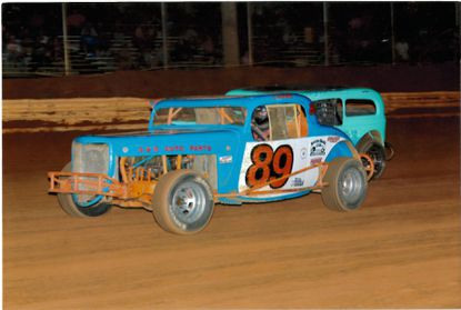 Carnie Fryfogle, driving No. 89 in this photo, died as a result of a race-track crash Saturday in Pennsylvania.