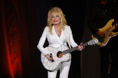 In this file photo, Dolly Parton performs in concert in Nashville, Tenn.