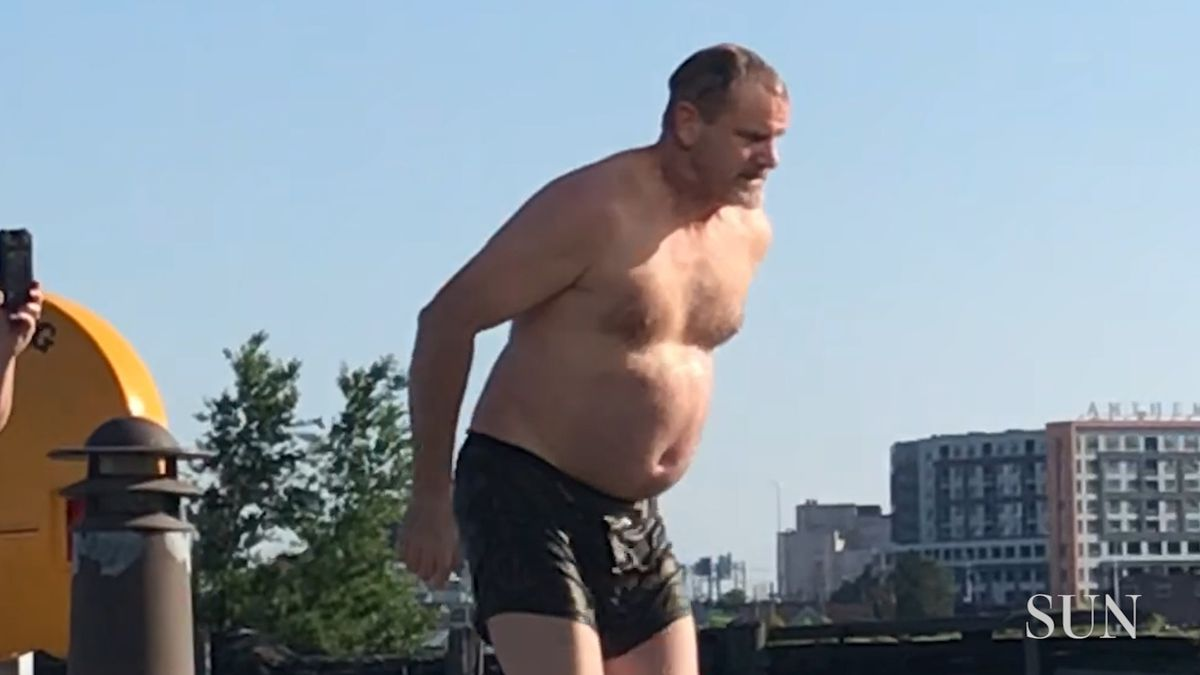 Video shows man jumping into Inner Harbor in Baltimore on Memorial Day: 'Well, I think that went well'