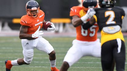 Eric Harrell, gaining ground against Towson, is part of a resurgent Morgan State running game.
