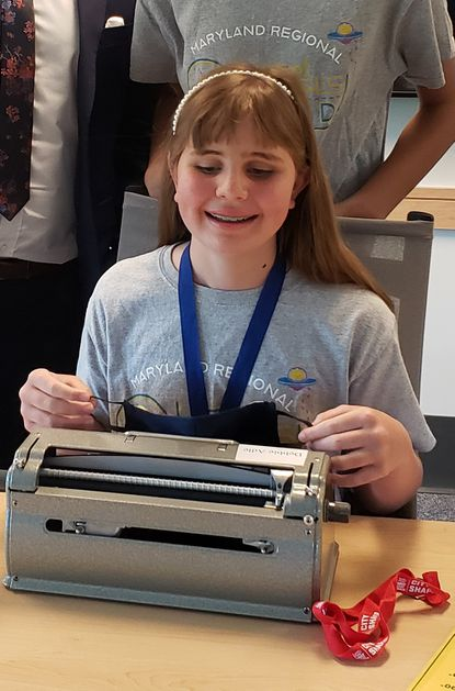 Finksburg resident Meredith Day, 12, is set to compete in the National Braille Challenge for a third year in a row.