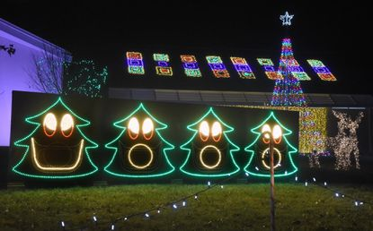 The Christmas light display of 100,000 Christmas lights synced to music at the St Matthew Lutheran Church on Rt. 22 in Bel Air offers fun for the entire family with singing Christmas trees and a host of other fun. See Page A5.