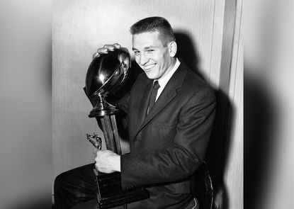 Quarterback Johnny Unitas, the Baltimore Colts legend, in his flat-top haircut.