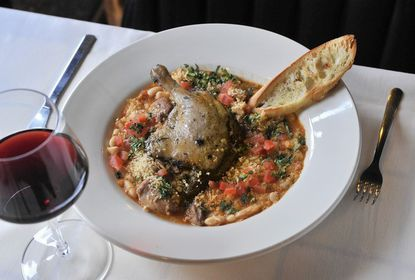Cassoulet, an entree of white bean stew with lamb, Toulouse sausage and duck confit at Gitan, a new French-Mediterranean bistro on S. Kenwood Avenue in Canton.