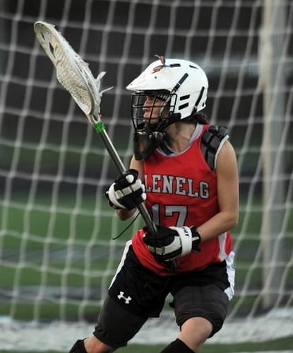 Seen here in this file photo from last season, Megan Taylor has Glenelg playing inspired lacrosse.