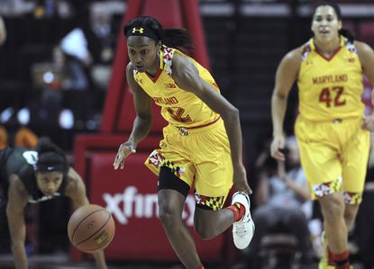 No. 5 Maryland's Shatori Walker-Kimbroughscored 30 points Friday night to lead the host Terps over No. 17 Michigan State, 85-76