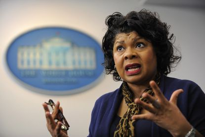 April Ryan, White House correspondent and Washington bureau chief for American Urban Radio Networks. She has 20 years of experience as White House correspondent.