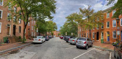 Row houses on seen on Barre Street.