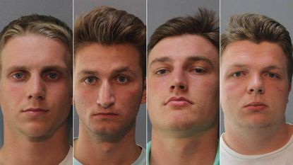 Four Howard County graduates are each facing identical seven-count indictments. They are, from left, Tyler Curtiss, Matthew Lipp, Joshua Shaffer, and Seth Taylor (Howard County Police Department)