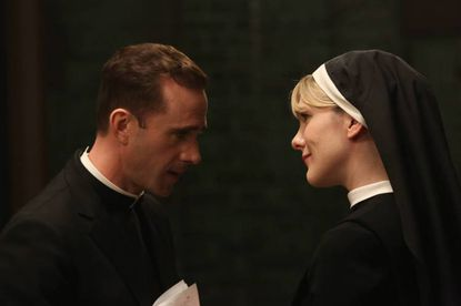 Sister Eunice has a word with monseigneur Timothy Howard. Meanwhile, Santa Claus is coming to town.
