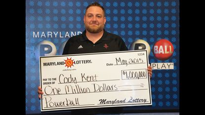 Cody Kent, a Texas man staying in Ellicott City on business, claimed a $1 million Powerball ticket sold Saturday at an Elkridge 7-Eleven store.