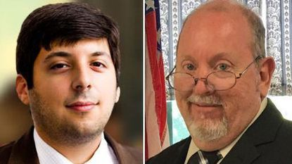Ian Schlakman of the Green party, left, and Shawn Quinn of the Libertarian party ran for Maryland governor.