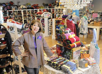 Since opening Woolstock Knit & Sew in Glyndon Square Shopping Center in 1988, Leslye Solomon has moved her business twice -- always to a bigger spot in the same shopping center.