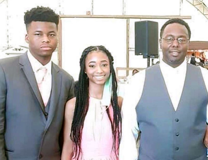 Bernard Richardson, far right, known as Coach Shallah of the Parkside Warriors, was killed last month in the city's 300th homicide. He's pictured with his children, King and Queen Richardson.