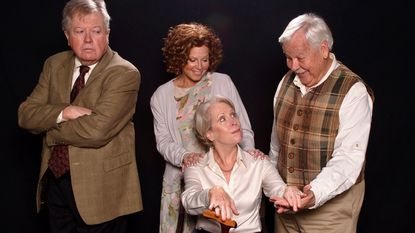 "From left, Richard Wade, Nori Morton, Marti Pogonowski, Edd Miller in The Colonial Players production of the comedy, ""Quartet."""