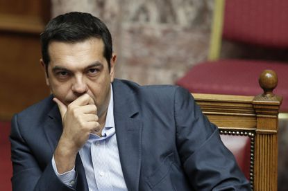 Greek Prime Minister Alexis Tsipras during a parliamentary session in Athens on Aug. 14, 2015.