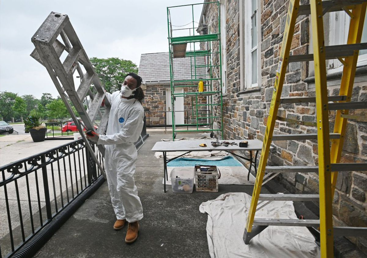 Morgan State students work to restore the school's chapel as part of historic preservation program for black students
