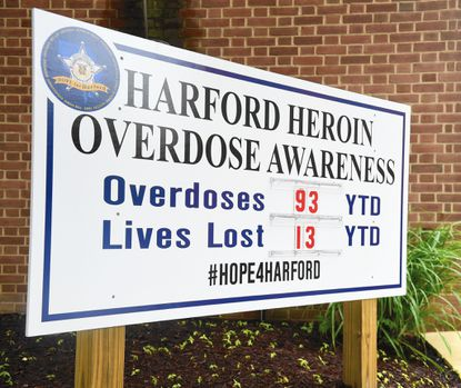 Heroin overdoses reported in Harford County continued to spiral upward, with three fatal and at least six non-fatal overdoses in the past 10 days, according to the Sheriff's Office.