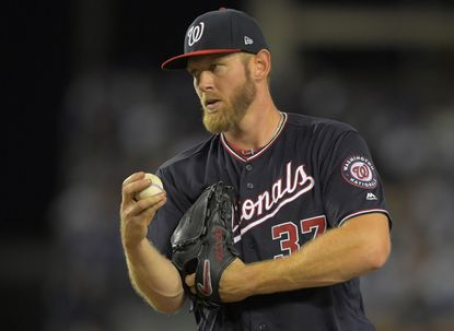 Washington Nationals starting pitcher Stephen Strasburg has dazzling career postseason numbers after dominating the Dodgers in Game 2 of the NLDS on Friday night: 28 innings pitched, a 0.64 ERA with four walks and 38 strikeouts as batters managed a .190 average against him.