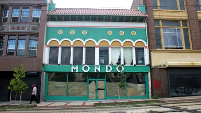 The exterior of Le Mondo on North Howard Street as it appeared in July.