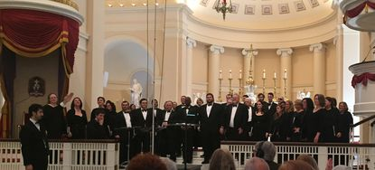 The Handel Choir of Baltimore takes a bow at Baltimore Basilica
